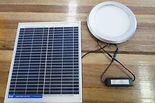 Illume 180mm Round Solar Powered Skylight Silver No Heat Shaftless LED DIY
