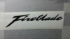 2 X HONDA FIREBLADE CBR SMOOTH TANK FAIRING DECAL FREE POST UK MANY COLOURS
