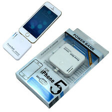 2200mAh White External battery Portable charger Power Bank for iPhone 5