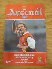 06/04/2000 UEFA Cup Semi-Final: Arsenal v Lens  . This item is in very good cond
