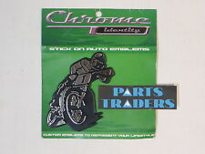 Chrome Identity MX Race Stick On Chrome Motorcycle Dirt Bike Drift Auto Emblem