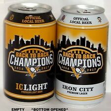 PENS 2018 BACK-2 STANLEY CUPS PITTSBURGH PENGUINS NHL ICE HOCKEY SPORT BEER CANS