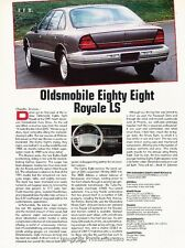 1991 Oldsmobile Eighty Eight Royale LS Original Car Review Print Article J38