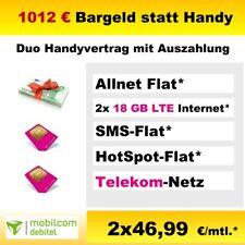 Handyvertrag mit 1000 € Bargeld Auszahlung Duo Vertrag Allnet Flatrate 18 GB LTE