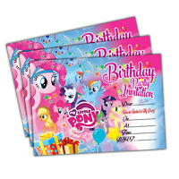 20 x My Little Pony Kids Birthday Party Invitations Invites Cards Quality Girls