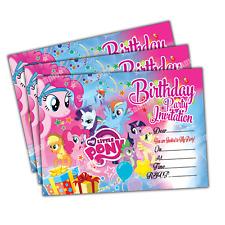 Buy my little pony theme invitation ebay 20 x my little pony kids birthday party invitations invites cards quality girls filmwisefo