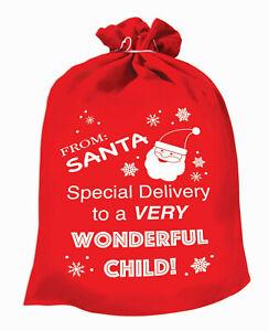Santa Claus Red Toy Bag Christmas Santa Gift Bag