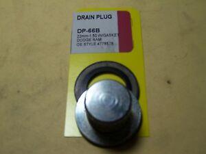 OIL PAN DRAIN PLUG - 22mm - 1.5 w/GASKET OE STYLE DODGE RAM 4778578