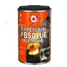 PEINTURE HAUTE TEMPERATURE COULEUR ALU 600 ° C 0.25L OXI barbecue chauffage mote