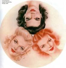 Vintage Alberto Vargas impresión Original 1943 Jergens Caja De Polvo Placa de libro