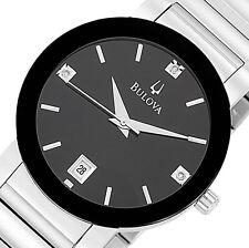 PRE-OWNED $325 Bulova Men's Stainless Steel Date Japanese quartz Watch 96D18