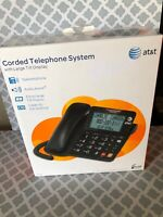 AT&T CL2940 Corded Speaker Telephone with LCD Display - Black(Defected)