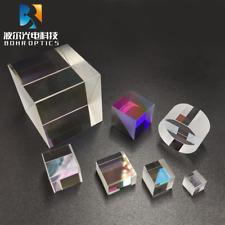 Beam Splitter Cube Prism 12.7mm 50T:50R N-BK7 Optical Glass Dichroic Dispersion