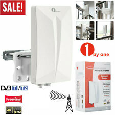1byone HDTV Antenna Aerial HD Digital TV Signal Amplified Booster Outdoor/Indoor