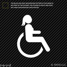 (2x) Girl Handicap Sticker Die Cut Decal Self Adhesive Vinyl wheelchair female 2