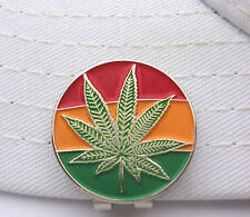 Mary Jane Golf Ball Marker W/Bonus Magnetic Hat Clip and Rasta Colors