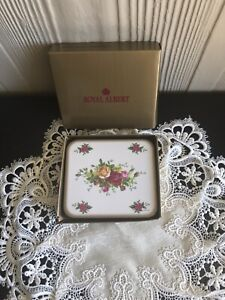 """Royal Albert """"Old Country Roses"""" 2002 Coasters. 5 NEW in box."""