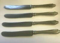 Towle Virginia Carvel Sterling Silver Set of 4 Knives Old French Hollow Mono