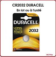 Lots de Piles/Cells boutons Duracell 3V lithium CR2032, qualité professionnelle
