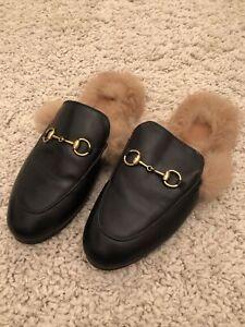 Gucci Fluffy Slides Size 5