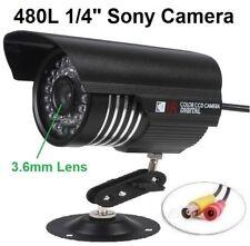 "SC-3S231 1/4"" Sony CCD 36IRx0.5F up to 85FT 3.6mm 480TVL Weatherproof BNC Camera"