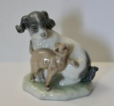 Lladro Nao porcelain figurine Dog And Cat In Harmony