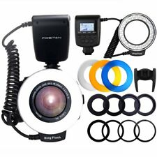 New Travor RF-550D Macro LED Ring Flash Light For Nikon Canon Olympus Panasonic