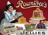 Rowntrees Jellies large steel sign 400mm x 300mm (og)   REDUCED!!