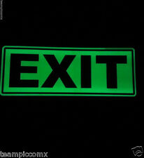 """Glow in the Dark  EXIT safety sign self adhesive 11"""""""