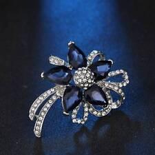 Fashion Women Crystal Rhinestone Flower Brooches Wedding Broches Pin Jewelry