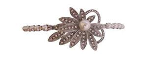 Vintage Inspired Crystal and Pearl Headband Wedding Hairband Bridal Hair Jewels