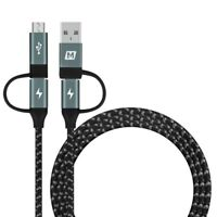 MOMAX Type-C to Micro USB & Type-C to USB A Charging & Data Sync Braided Cable