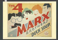 Ca 1970 Ppc* The 4 Marx Bros In Duck Soup Classic 1930's Comedy See Info