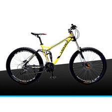 "26"" Men's Yellow Mountain Cycling 27 Speed Aluminium Alloy Frame Bikes Yellow"