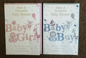 BABY SHOWER GIRL OR BOY CARD Brand New and Sealed