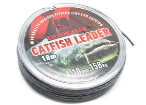 Red Cat Catfish Leader Wels Vorfach 10m versch. Größen 8fach geflochten