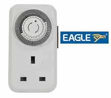 Eagle 13A Plug In Home Office Security Daily Mechanical Timer Clock Switch