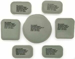 "USGI ACH MICH Helmet Pad Set 7-Piece 3/4"" Foliage Green NSN 8470-01-546-9420"