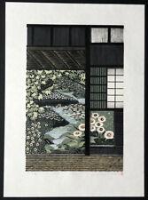New ListingRay Morimura Japanese Woodblock Print Water Garden