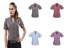 Collared Short Sleeve Career Women's Tops & Blouses