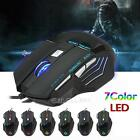 5500 DPI 7 Buttons LED USB Optical Wired Gaming Mouse For Pro Gamer PC Laptop