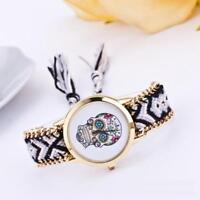 Fashion Women's Crystal Stainless Steel Band Analog Quartz Wrist Watch Bracelet