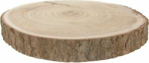 Natural Paulownia Wood Log 30cm Large Tree Slice Centerpiece Stand Kiln Dried