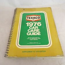 Texaco 1976 Car Care Guide