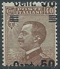 1923-27 REGNO EFFIGIE SOPRASTAMPATO 50 SU 40 CENT VARIETà MNH ** - P55-9
