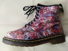 DOC DR. MARTENS PINK LONDON ICONS DESIGNS BOOTS RARE VINTAGE MADE IN ENGLAND 7UK