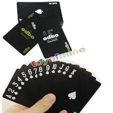 54 pezzi nero di plastica Exquisite libero PVC Carte da gioco Gioco Poker Set