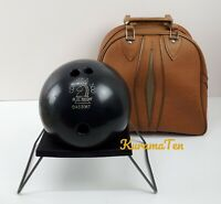 Vintage Columbia 300 Blue Knight Drilled Bowling Ball URETHANE With Bag 15LB
