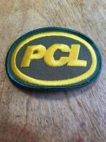 Vtg PCL Embroidered Patch Sew On Badge Construction Equipment Contractors