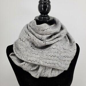 BNIB Celeste Black Cashmere Blend Infinity Scarf Winter Warmer Cold